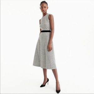 J. Crew A-Line Dress with Velvet Belt, 8